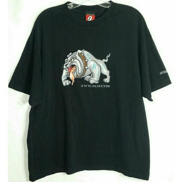41b12d5af46d4 Vintage Reebok Allen Iverson I3 T-Shirt XL Tee Dog